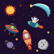 Постер, плакат: Cute animal astronauts in space