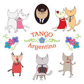 Argentine tango poster vector illustration