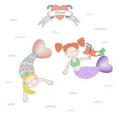 Cute mermaids and cats