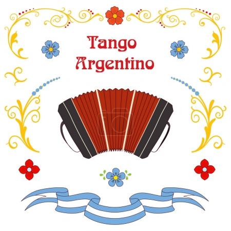 Illustration for Argentine tango poster, vector illustration - Royalty Free Image