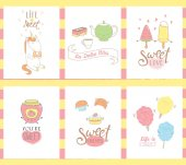 Sweets greeting cards