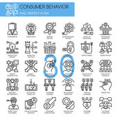 Consumer behavior  Thin Line and Pixel Perfect Icons