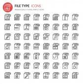 File Format Type Icons set