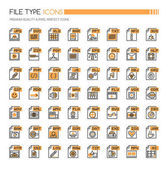 File Type Icons  Thin Line and Pixel Perfect Icons