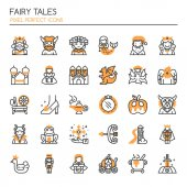 Fairy Tales Elements  Thin Line and Pixel Perfect Icon