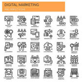 Digital Marketing  Thin Line and Pixel Perfect Icon