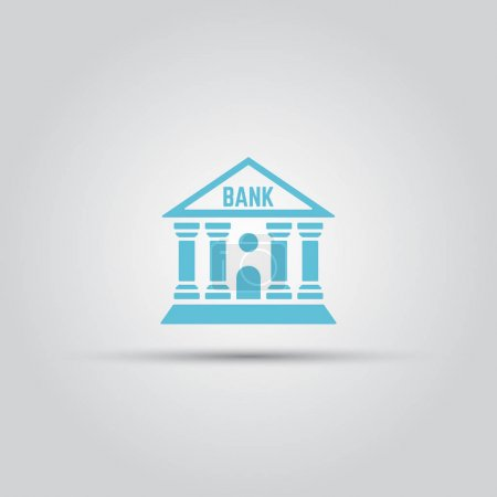 Bank isolated vector colored icon