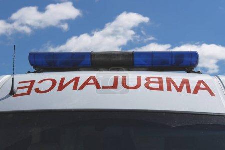 Photo for Ambulance and flasher or flashing light - Royalty Free Image