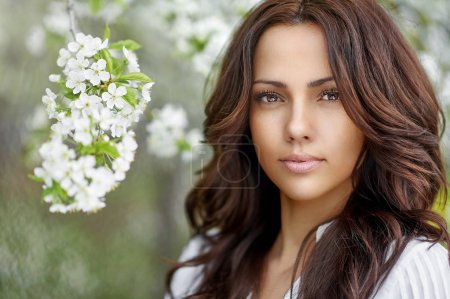 Photo for Natural beauty brunette woman with perfect skin - Royalty Free Image
