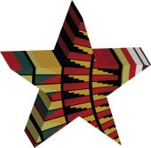 Abstract designed colorful star 3D