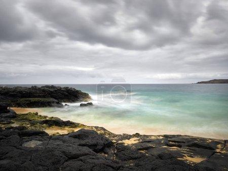 Photo for View of beautiful Playa de las Conchas on Graciosa island near Lanzarote, Canary islands, Spain - Royalty Free Image