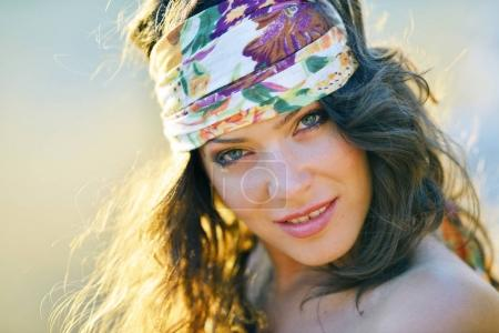 young smiling woman outdoor