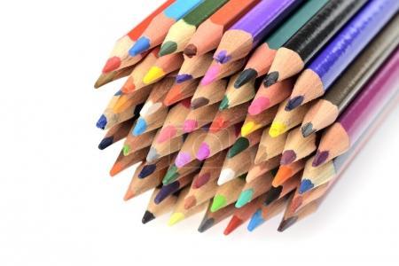 colorful pencils close up