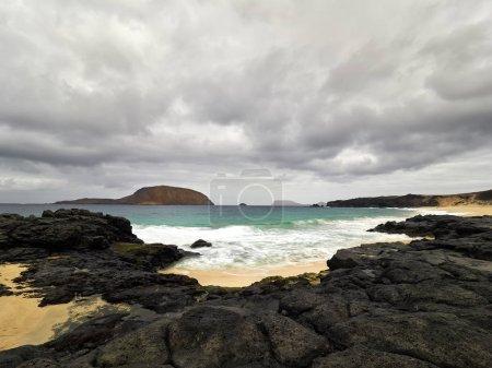 view of beautiful beach on the Graciosa island