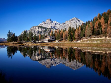 Photo for Great view of the lake Antorno in National Park Tre Cime di Lavaredo, Tyrol, Italy - Royalty Free Image