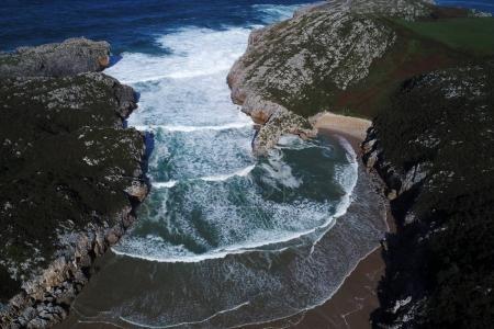 beach on spanish northern coast