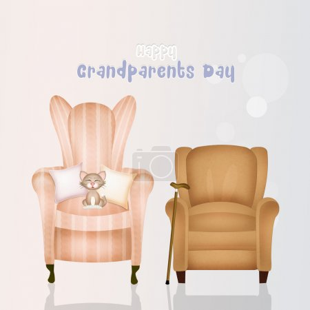 Illustration of armchairs grandparents
