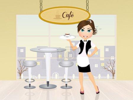 girl serving caf