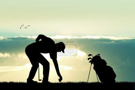 golf player at sunset
