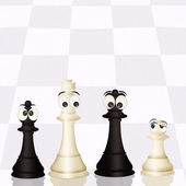 Chess on the chess board