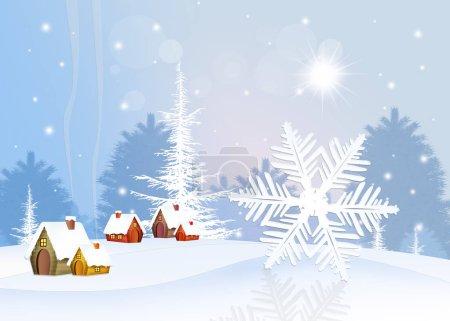 Foto de Ilustración de copo de nieve en invierno - Imagen libre de derechos