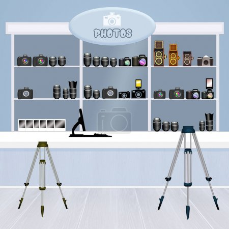 illustration of photo store