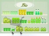 ábrán a bio termékek