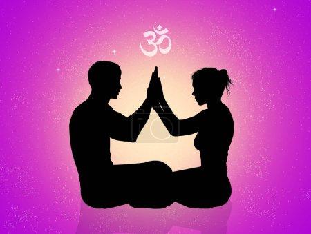Photo pour Illustration du couple énergie cosmique - image libre de droit