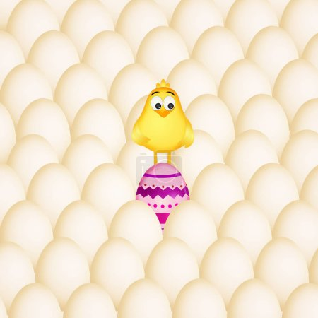 chick in the eggs