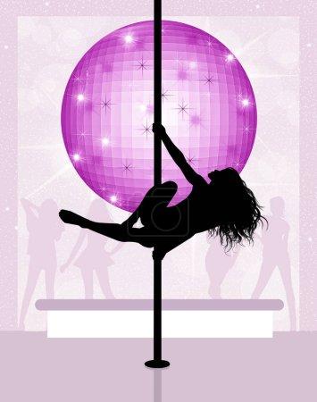 Lap dancer in the disco
