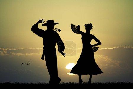 Photo for Illustration of Spanish Flamenco dancer - Royalty Free Image