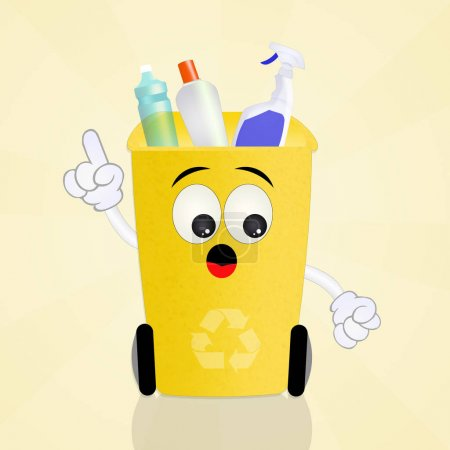 bin for plastics