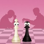 illustration of chess match