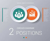 Circles diagram Elements Template infographics 2 positions