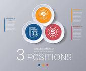 Circles diagram Elements Template infographics 3 positions