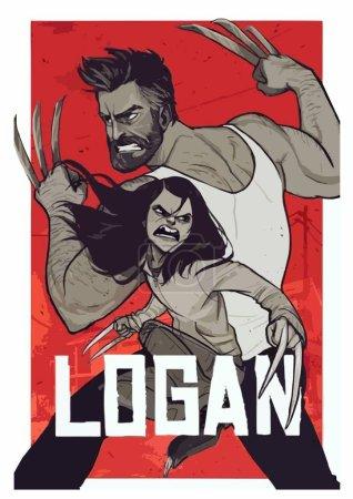 Логан Росомаха XMen Комиксов Marvel