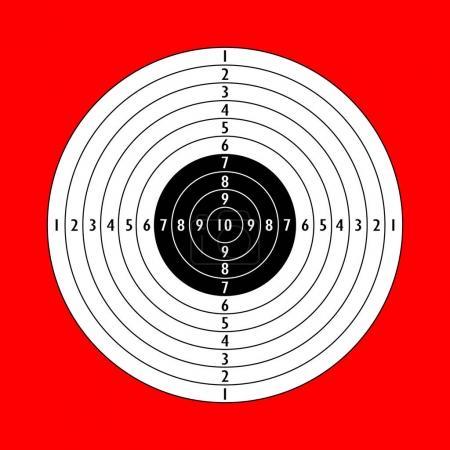 Blank white shooting paper target sign