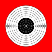 Blank white shooting paper target sign