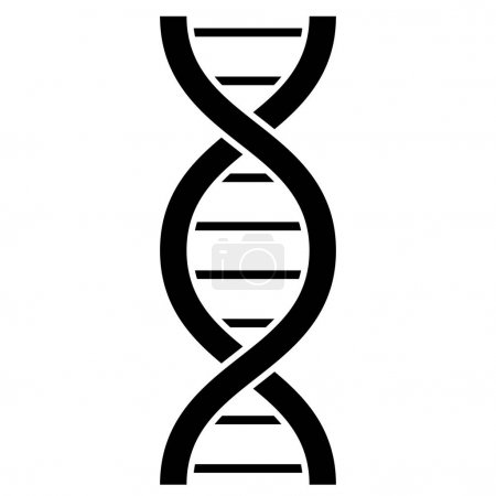 Illustration for Dna molecule vector icon illustration isolated on white background - Royalty Free Image
