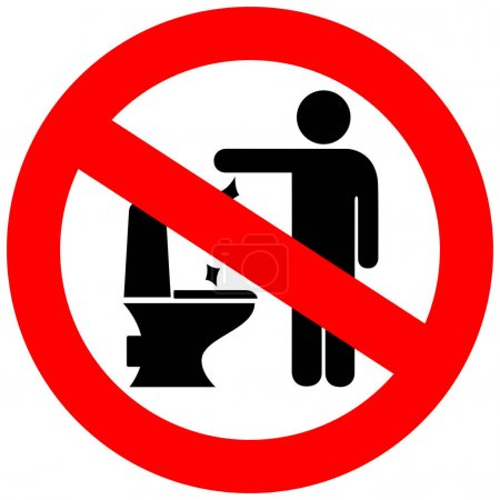Illustration pour Aucune illustration vectorielle de signe de litière de toilette isolée sur fond blanc - image libre de droit