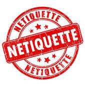 Netiquette rubber vector stamp
