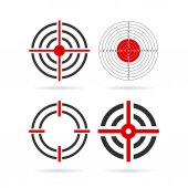 Shooting target vector icon