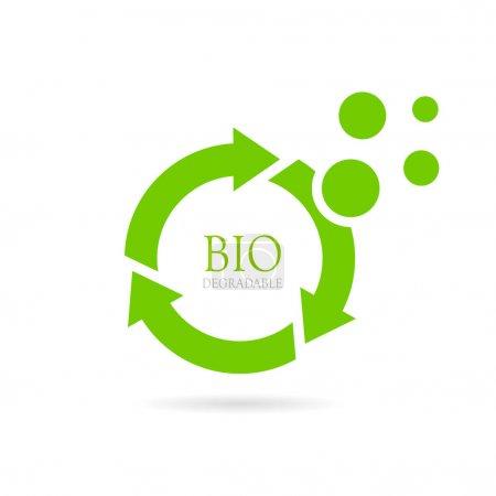 Illustration pour Illustration vectorielle abstraite biodégradable isolée sur fond blanc - image libre de droit