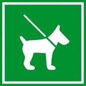 Keep dog on lead green sign