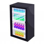Fridge with refreshments drinks icon Cartoon illustration of fridge vector icon for web