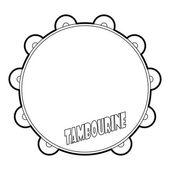 Tambourine icon outline style