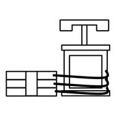 Dynamite icon outline style