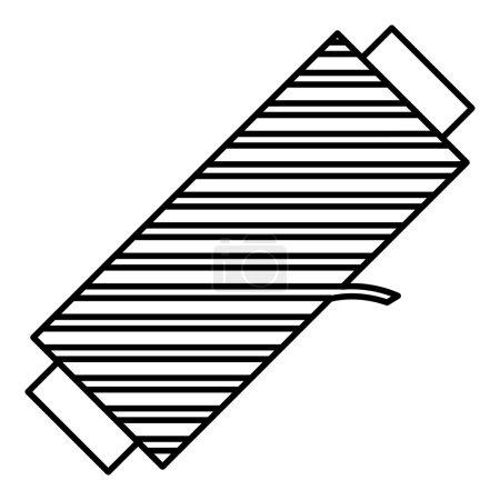 Slanted spool icon. Outline illustration of slante...