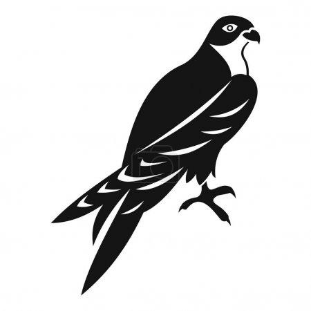 Falcon icon, simple style