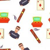 Casino and gambling pattern Cartoon illustration of casino and gambling vector pattern for web